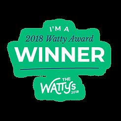 Sou um ganhador do prêmio Wattys 2018!