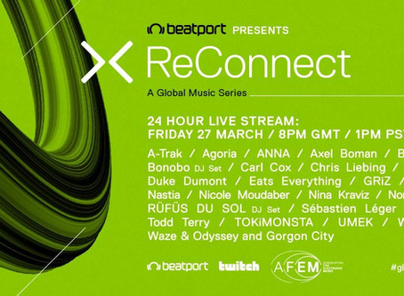 XReConnect Dj 24-hour global DJ marathon Host by Beatport