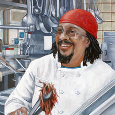 """David Preparing BBQ Beef Brisket"" © Rachel Mindrup - 2014"