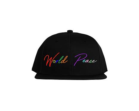 RAINBOW SNAP BACK HAT (CURSIVE)