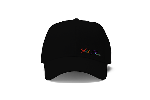 RAINBOW DAD HAT (CURSIVE)