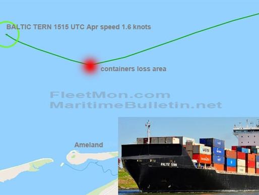 Контейнеровоз потерял 5 контейнеров в Северном море у побережья Нидерландов