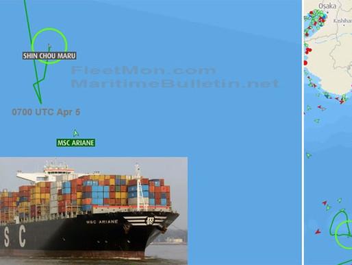 Мега-контейнеровоз MSC потерял управления в Тихом океане
