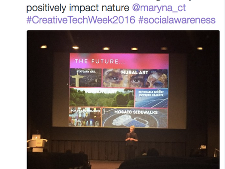 Speaking at Creative Tech Week NYC: Talking Trees - the Future of Advertising Media?