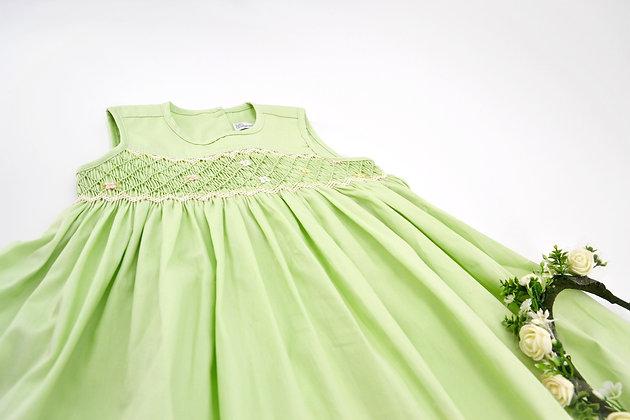 Smocked - Emma Pastel Green Dress