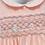 Thumbnail: Smocked - Peach Collard Grey Smocked Baby Dress