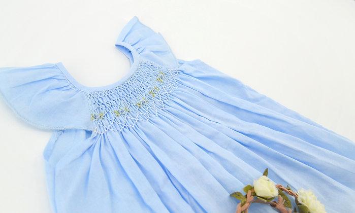 Smocked - Light Blue  Baby Dress / Shirt