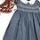 Thumbnail: Smocked - Crosshatch Indigo Lantern Sleeve Dress