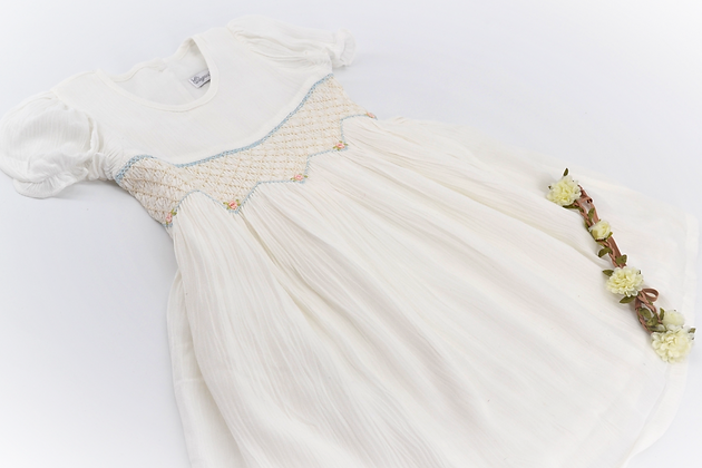 Smocked - Liza Dove White Dress
