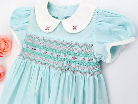 Smocked - Misty Teal Dress