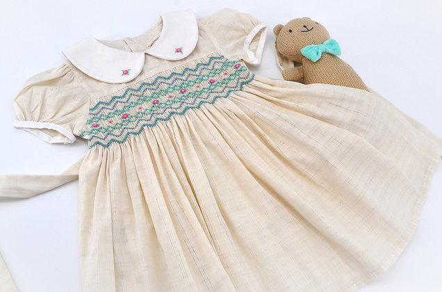 Smocked - Ivory Mini Eyelet Dress