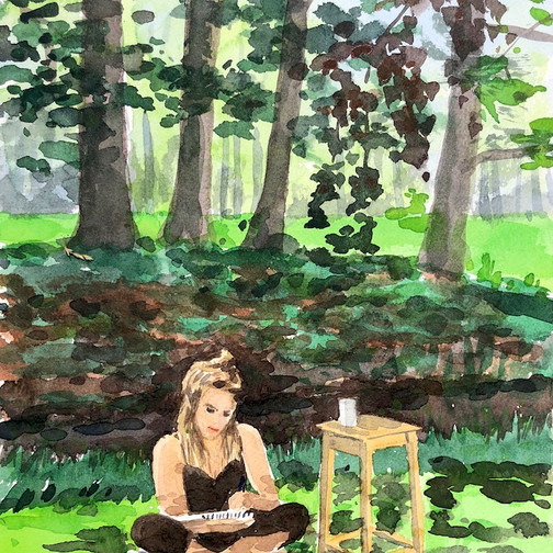 Schilderweekend op Landgoed 't Medler, Emma Bijloos 2019