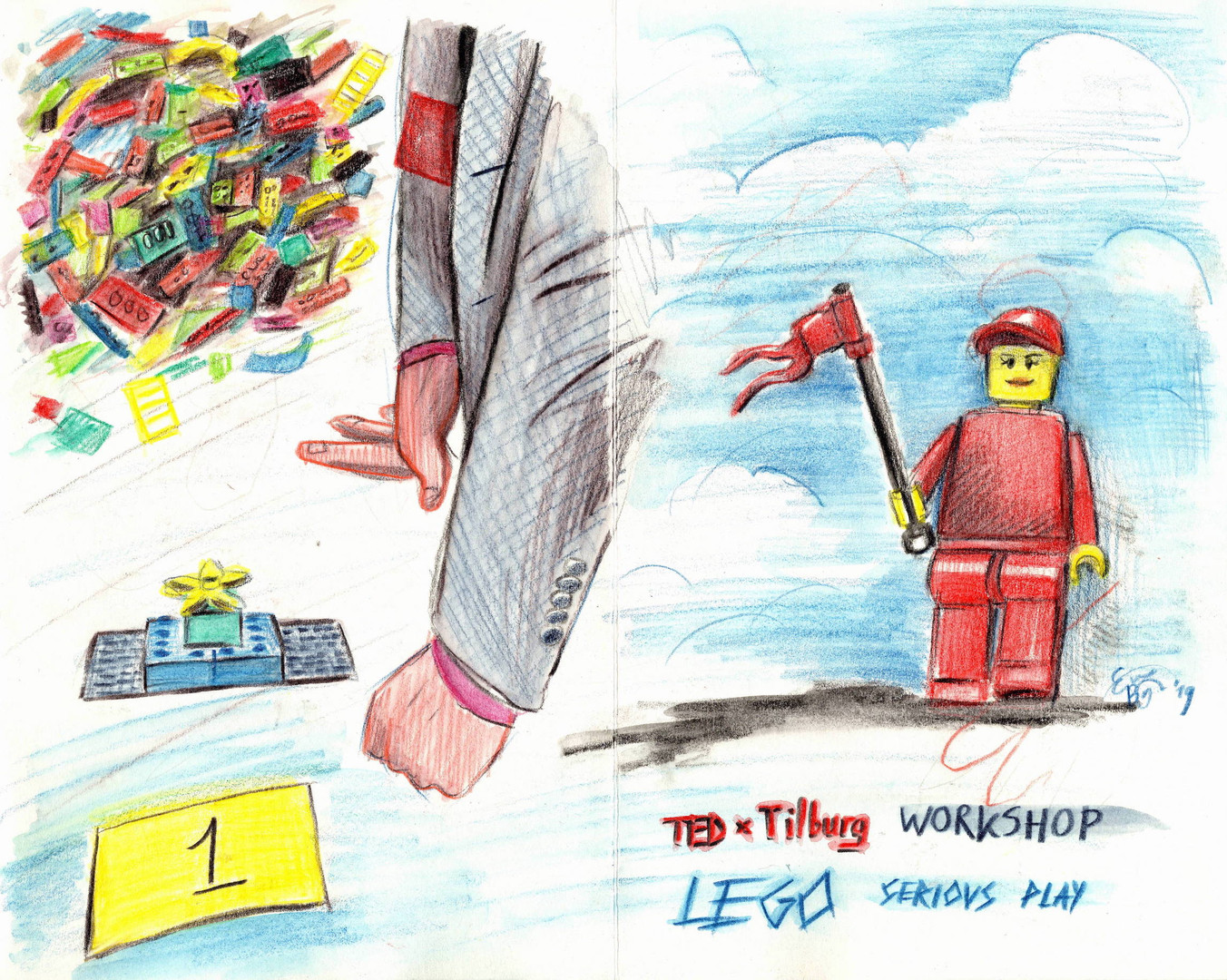 Workshop by Studio Why, TEDxTilburg (c) Emma Bijloos 2019