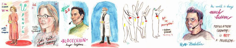 TEDxTilburg Reortage drawings - part 3 (c) Emma Bijloos 2019