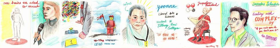 TEDxTilburg Reortage drawings - part 2 (c) Emma Bijloos 2019