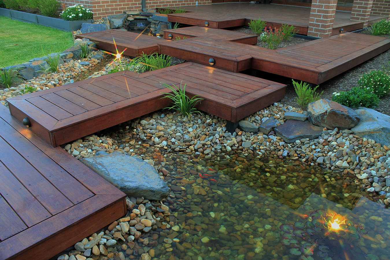 Landscaping melbourne garden design intrinsic landscapes for Fish ponds melbourne