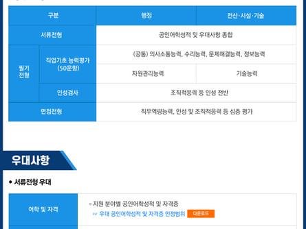 2020년도 하반기 한국공항공사 신입사원 채용(10/27)