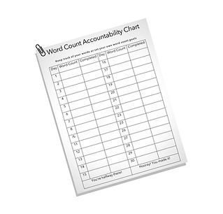word count chart blank