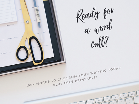150+ words to cut from your writing!