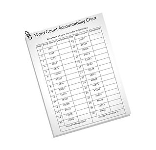 word count chart 50k words