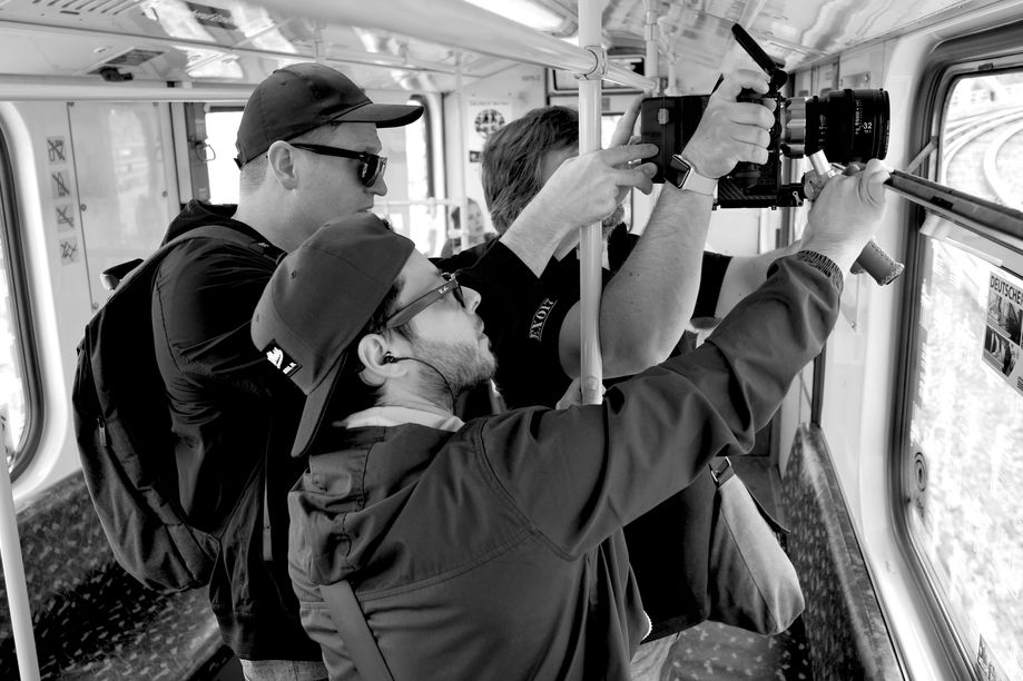 Filming from the S-Bahn, Berlin