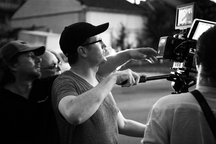 Stu operating the camera