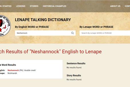 Lenape Stream Names by Jack Kearney