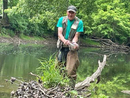 Fishing Neshannock Creek with Jim