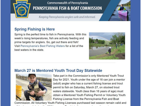 Spring Fishing in Pennsylvania - from the PFBC