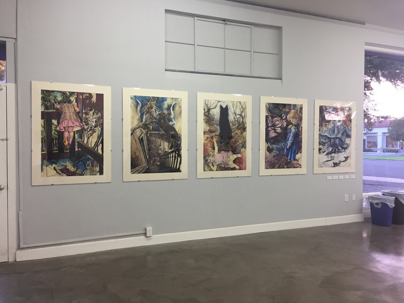 On Hysteria Large Drawings Installed