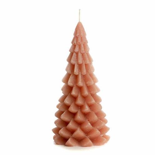 Rustik Lys kaars Kerstboom brique 20 cm