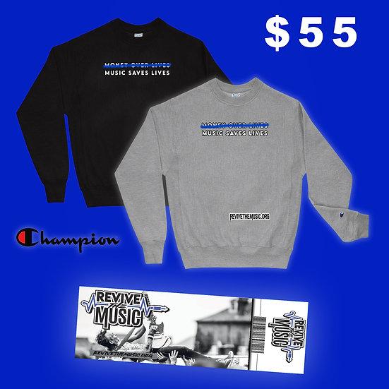 Music Saves Lives Champion Sweatshirt