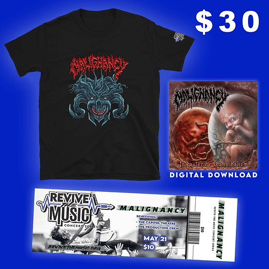 MALIGNANCY Benefit for The Capitol Theatre T-Shirt!