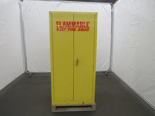 60- Gallon, Yellow Safety Storage Cabinet, Manual Closing Doors, #Z-007