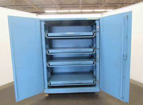 """Proper Storage Systems, 58"""" x 40"""" x 76 1/2""""  Roll-Out Shelving Cabinet, ID#Z-006"""