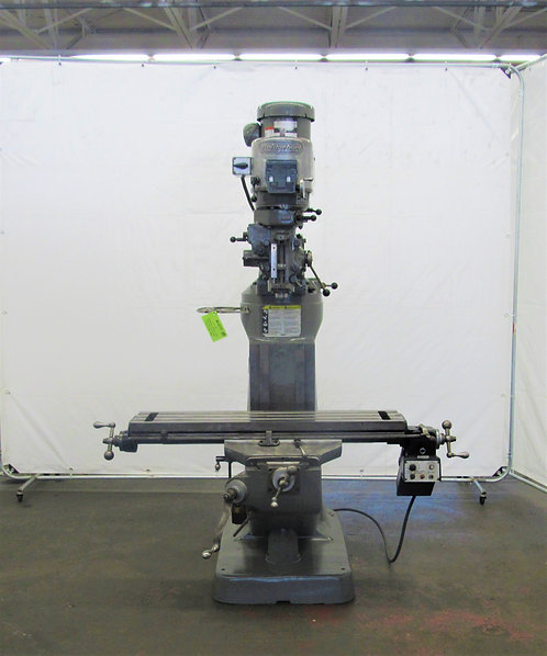 "Bridgeport Series I, 2-HP, Ram Type Vertical Mill, 9"" x 42"" Tbl, #M-077"