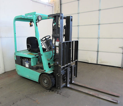 Mitsubishi 3000 lb. Capacity, Electric 3 - Wheel Forklift, #N-012