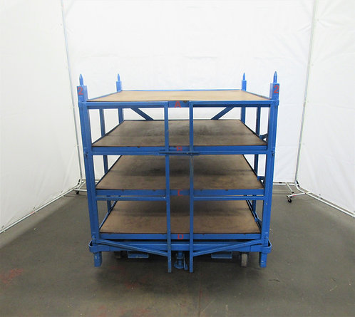"Industrial 48"" x 48"" Roll-Out Shelving on Wheels, #Z-010"