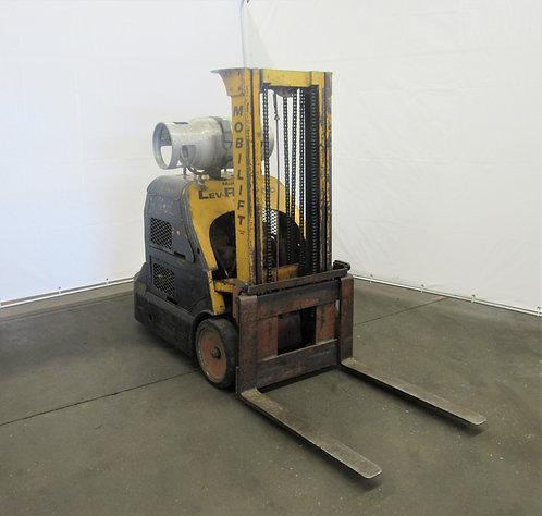Antique Mobilift 2000 Lb. Cap.,LPG, Solid Rubber Tire Lift Truck Stacker, #N-009
