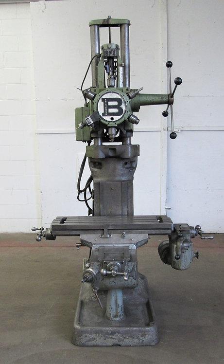 Burgmaster D1, 6-Spindle Turret Drill on Bridgeport Base, #D-015