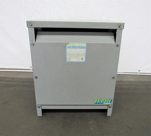 Hevi-Duty 30 KVA, 3 Phase Transformer, 480-208 / 120, #E-009