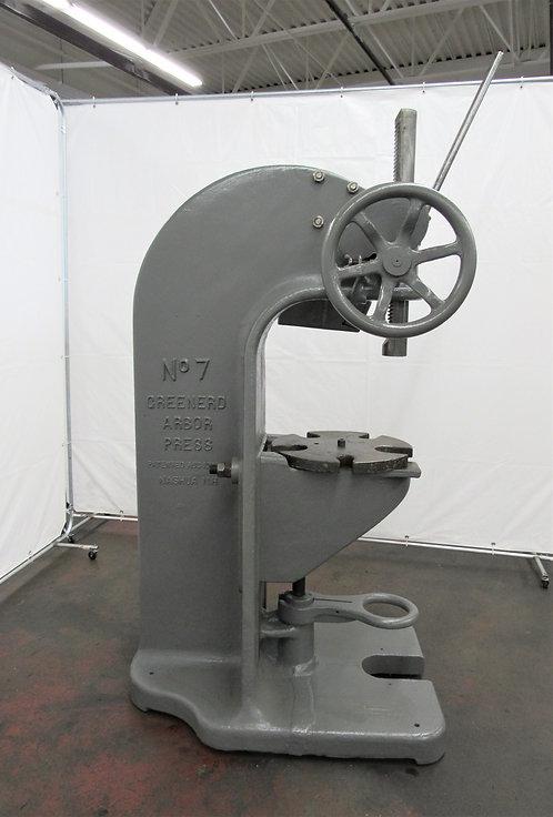 Greenerd No. 7, 20 -Ton Floor Type Arbor Press , #P-015