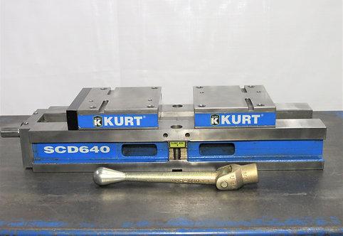 """Kurt 6"""" Self-Centering Vise SCD 640, # V-024"""