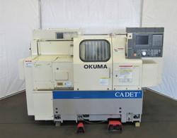 Okuma Cadet LNC-8, Big Bore, 2-Axis CNC Lathe