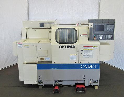 Okuma Cadet LNC-8, Big Bore, 2-Axis CNC Lathe, # L-073