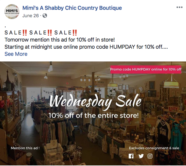 How do you get more customers in-store? Post coupons to social media that can only be redeemed in-person. The Promota app offers hundreds of templates you can use to design them.