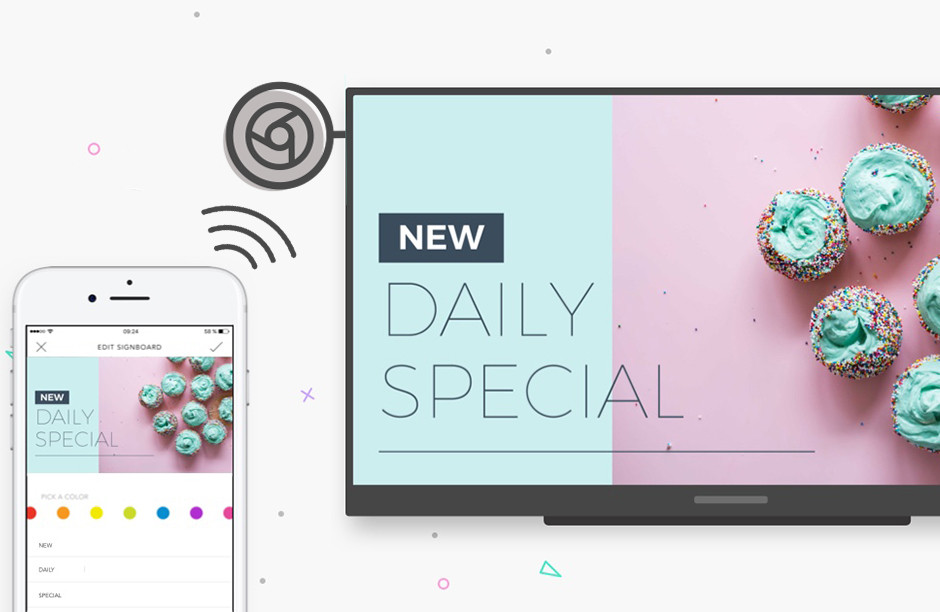 google chrome cast for digital signage with promota app
