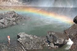 Rainbow below falls