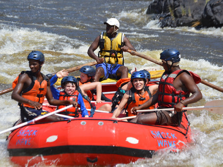 What a wonderful weekend Rafting, Rock Jump & Swimming under some falls with USA kids on the Zam