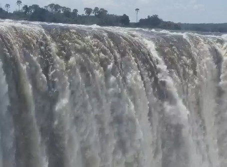 The Mighty Victoria Falls Flow on March 29th 2020